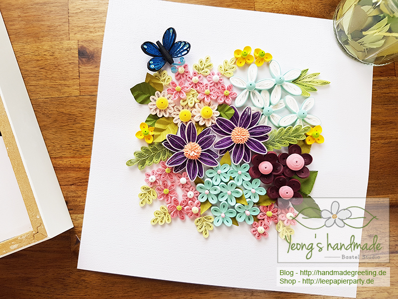 Quilling Blumenwiese Home dekoration