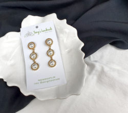 2177. Twisted pearls earrings - Yeongs Handmade