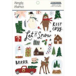 10033. Winter Cottage Sticker book - Yeongs Handmade