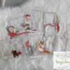 10029. Simple Vintage North Pole Layered Frames Die-Cuts 6/Pkg