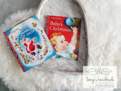 10035.10036 a little golden book Baby's christmas. Santa's Toy shop - Yeongs Handmade