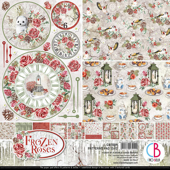 0517. FROZEN ROSES PAPER PATTERN PAD